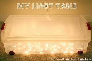 diy light box!  great/simple idea for a homemade tracing table :D  click the image for the how-to!