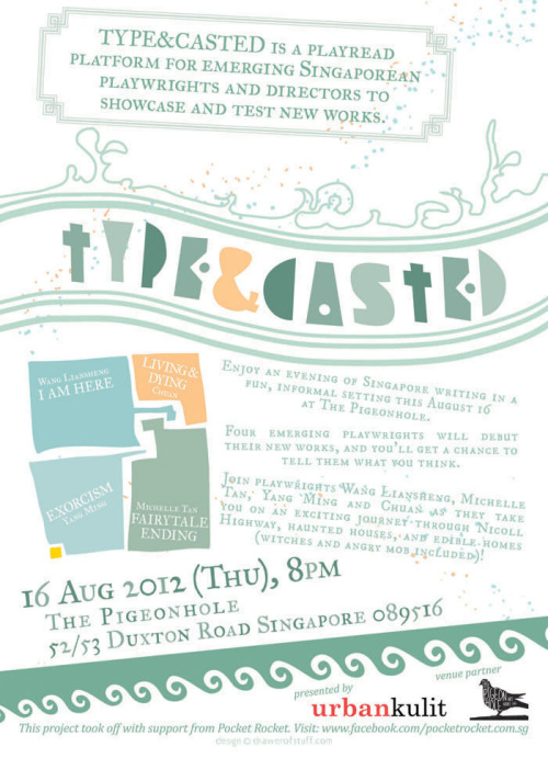 Visit http://typeandcasted.eventbrite.com for more details or to register!