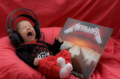 Baby Crying at Metallica Or is he singing along?