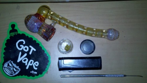 dannyisbrown:  Morning dabs with the health stone