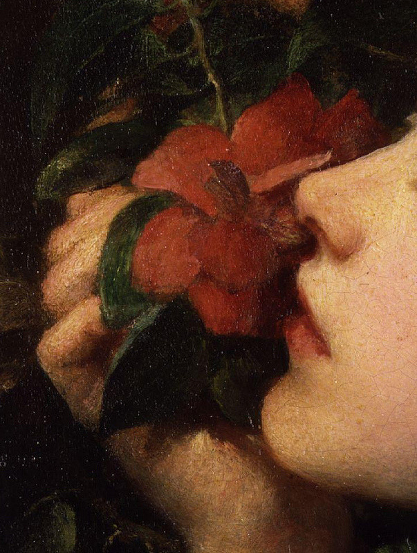 wasbella102:  Choosing, (artist's wife, Dame Ellen Terry), detail, c. 1864, George Frederick Watts
