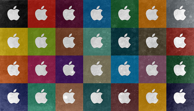 Apple Warhol Widescreen Wallpaper by Tiger Pixel on Flickr.