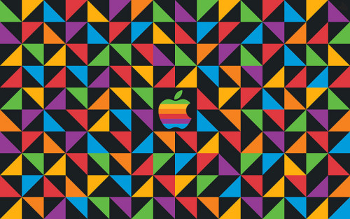 Apple Classic Triangle Wallpaper by Tiger Pixel on Flickr.
