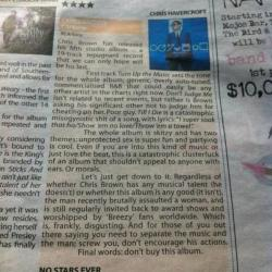 8bitmickey:  Chris Brown Album Review: No Stars. Ever.  So glad to see some media outlet saying this.
