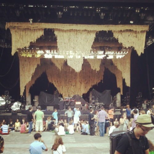 Waiting for @boniver (Taken with Instagram at Nuits de Fourvière) Update: OK, I can die happily now. One of the best concerts I've ever been to. I don't regret the miles I've traveled for this.