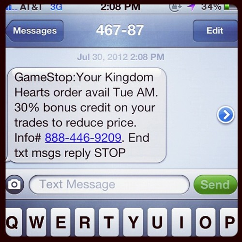Why thank you GameStop! (Taken with Instagram)