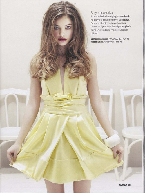 parischiccouture:  Barbara Palvin in yellow Roberto Cavalli Dress