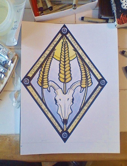 cpartstart:  Simple altarpiece for Lammas.