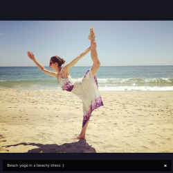 tarastileseats:  Beach Yoga in a Beachy Dress