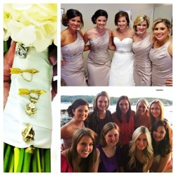 accidentallyoutoflove:  bridesmaids, alpha phis, and our pins. (Taken with Instagram)