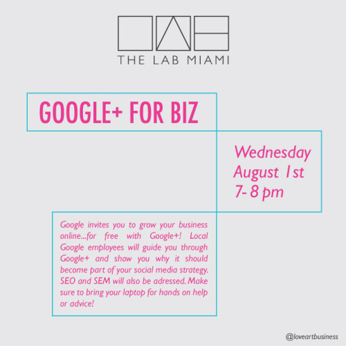 Free class on Google+ this Wednesday! Find out more here