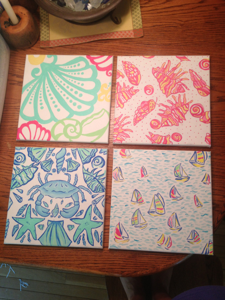 haltersandhandbags:  Finally finished my Lilly Pulitzer prints for my apartment at college!!!