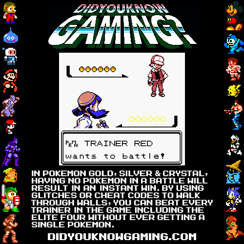 didyouknowgaming:  Pokemon Gold, Silver and Crystal. Submitted by Deadalus.