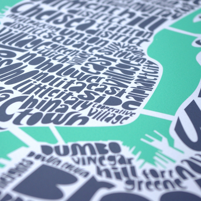 adrifts:  Beautifully lettered type maps by Swiss artist/designer Ursula Hitz who resides in the UK. These limited edition silkscreen prints are available for purchase in Ursula's shop along with her typefaces and other goods. Featured here: London, NY, Paris, Rome.  These are gorgeous. If there was a Boston one, I might consider putting down more than 500$ on one.