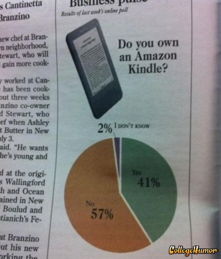 2% of People Don't Know If They Have a Kindle It's probably a kindle, but I might have just been reading a block of wood.