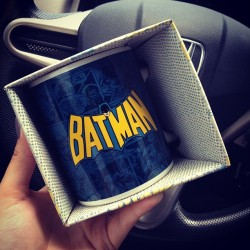 new addition to my #batman collection! my new #coffee #mug! yay 😊 #classic #oldschool  (Taken with Instagram)