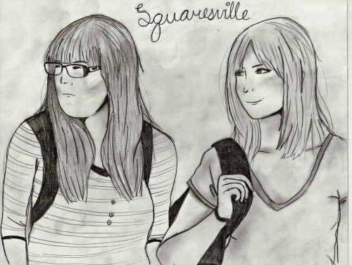 effyeahsquaresville:  Ah! Squaresville art contest submission. To vote for this entry, like and reblog! To see more entries in the Squaresville art contest, go HERE.    Our fine friends at EffYeahSquaresville are running a contest to win this 'lil guy. Reblog and like your favorite images to  vote for your favorites, and support fellow Squaresville community members. You can check out all the contestants here, they're all AMAZING!