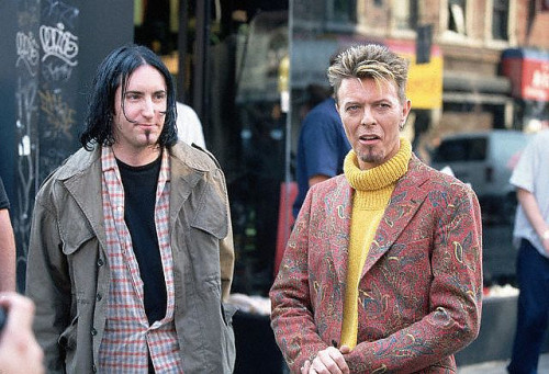 I'm Afraid of Americans Trent Reznor and David Bowie circa 1997 photographed by Mitchell Gerber :: via lelamoon