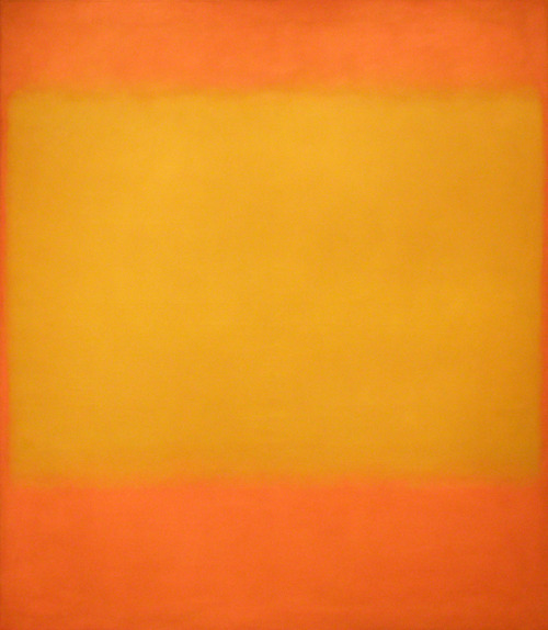 jhwildlifeart:  Bob Kuhn was inspired by Mark Rothko's use of color and composition. Make sure to stop by the Museum this summer to view Bob Kuhn: Drawing on Instinct and Mark Rothko's Untitled (Yellow on Orange) no. 579! © 1998 Kate Rothko Prizel & Christopher Rothko / Artists Rights Society (ARS), New York