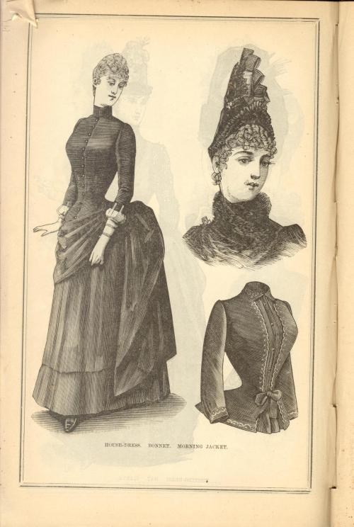 Housedress, Bonnet, Morning Jacket; Peterson's Magazine, November 1887
