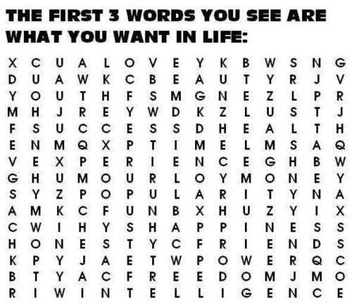 stephawa:   love, time, health   love experience popularity   Love happiness intelligence