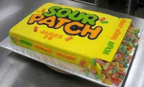 #sour patch #cake #good