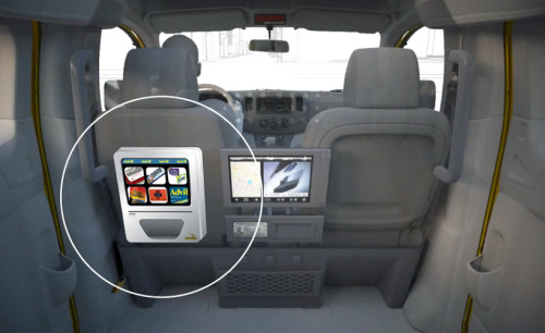 'taxi treats', a built-in vending machine in taxi cabs, has won the new york economic development corporation's 'next idea' competition, earning 17,500 USD in start-up funds and free office space to help realize the initiative. designboom has been in touch with brian shimmerlik, the NYU stern school of business grad student who developed the concept (alongside buenos aires-based student tomas grosskopf), who offered more images and information about the design. (via taxi treats vending machine)