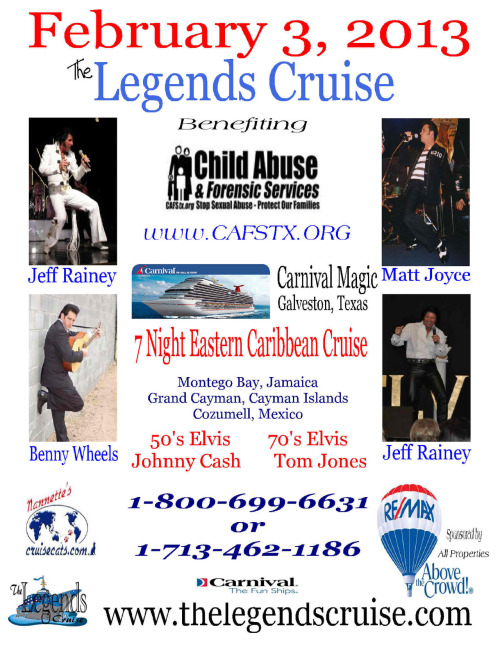 Cruise to benefit the Childrens Abuse and Forensic Services