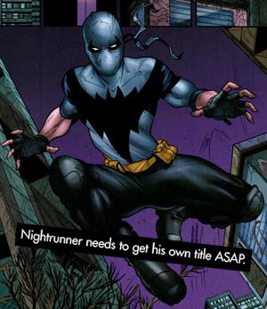 "dccomicconfessions:  ""Nightrunner needs to get his own title ASAP."""