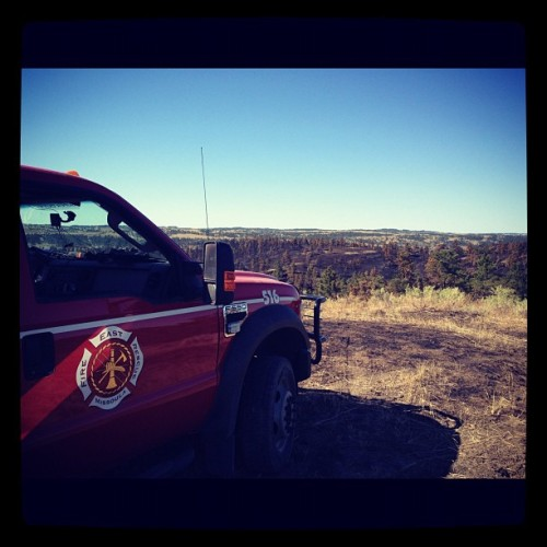 Spotting fire from the ridgeline (Taken with Instagram)