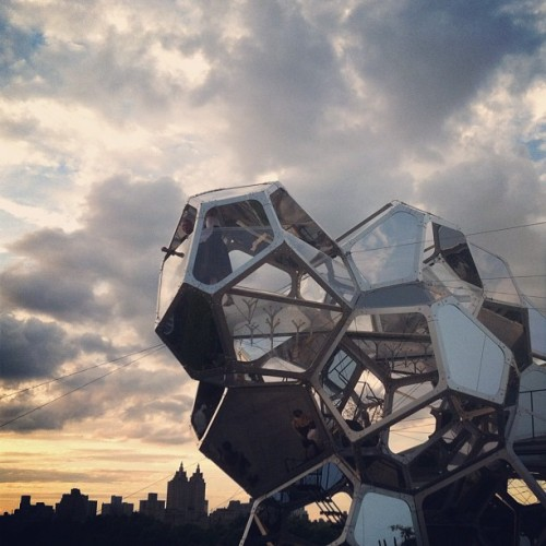 dailyartspace:  From our Instagram: Tomás Saraceno's 'Cloud City,' on the Met's Roof