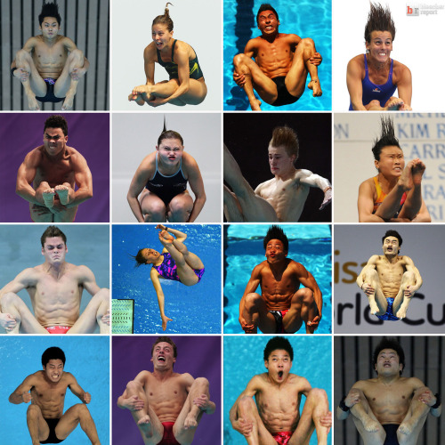 The faces of Olympic diving.  h/t thefw.com