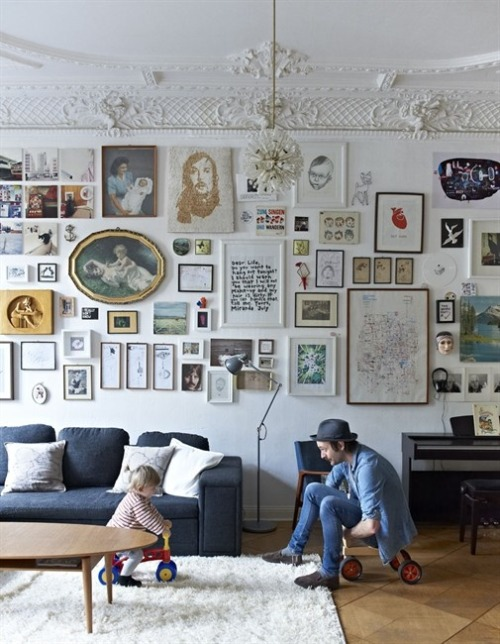 how fantastic is this wall? i'm in love.  [via: ikea family live]