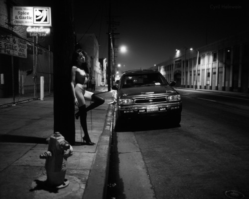"""Central Ave"" (Nude photography shot guerrilla style in Downtown Los Angeles)."