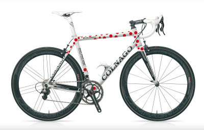 The limited edition Colnago C59 KOM frame! Pretty cool looking if you ask me!