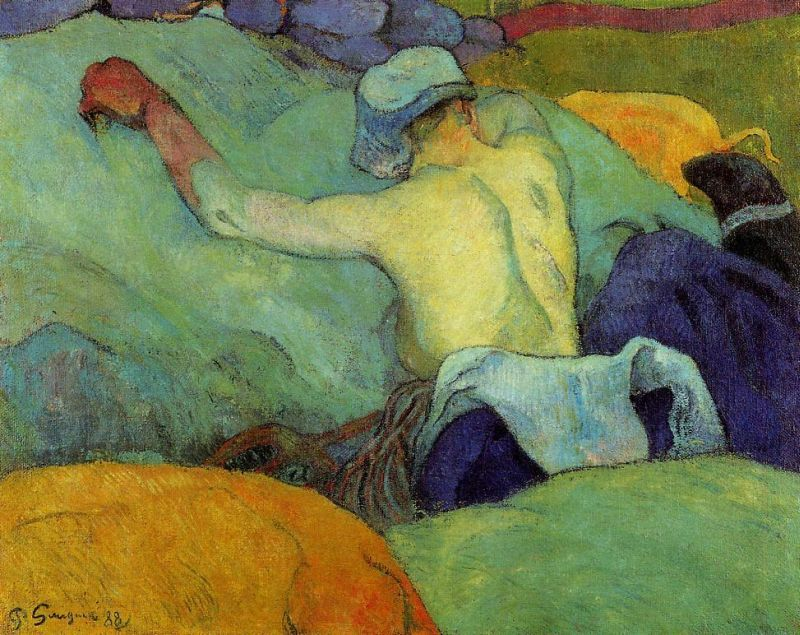 In the Heat of the Day, 1888 Paul Gauguin
