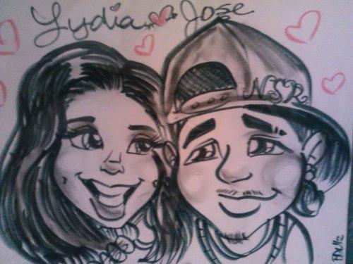 me && my babby <3awe they drew us (/.\) haha we cutee thouu ^__^