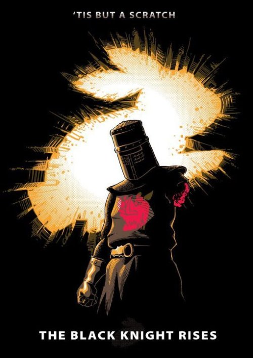 copiouslygeeky:  The Black Knight Rises  Ok…this is fantastic.  Created by Nathan Davis