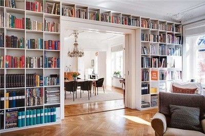 this would be divine to create a wall full of books for the home.  [via: cloud in the sky]