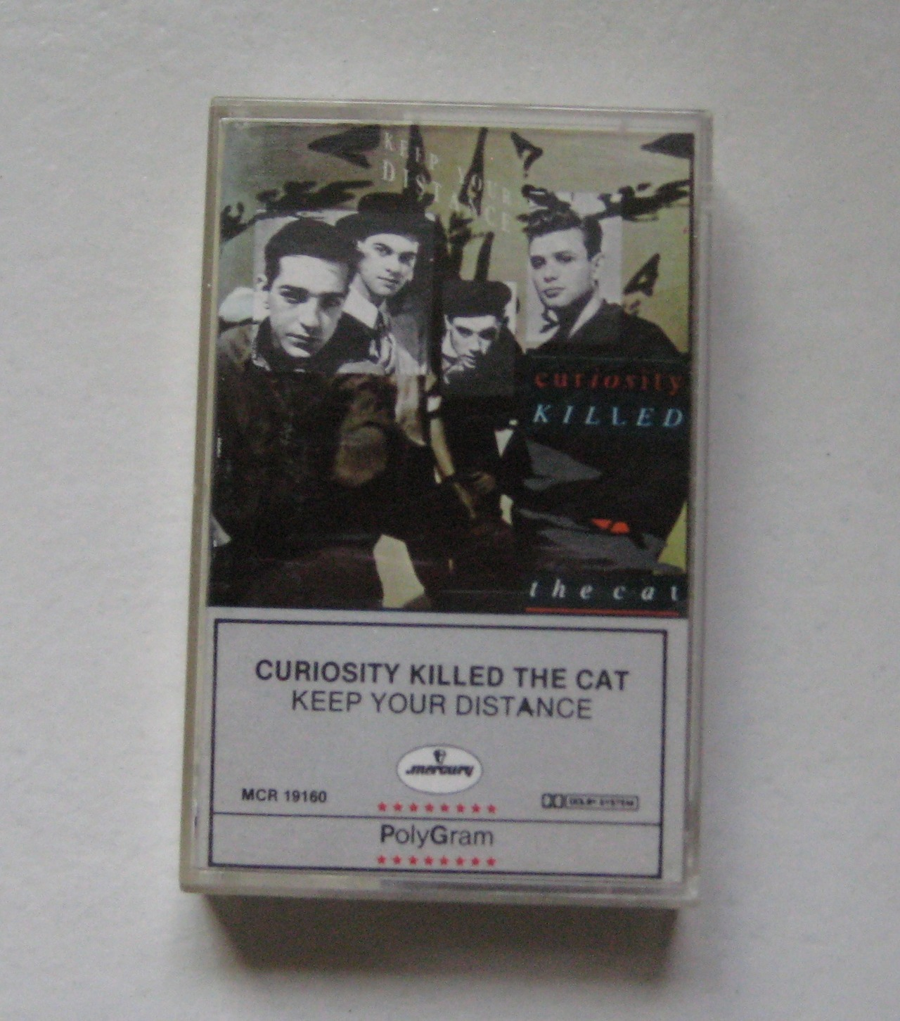 "ortegaycassette:  ""If you're too young to remember Curiosity Killed The Cat, imagine a kind of jazz funk version of Take That. Girls went wild for their pretty-boy charms and, for a brief while, singer Ben Volpeliere-Pierrot (hey, it was the '80s) managed to make wearing a fisherman's hat backwards fashionable. Somehow, Andy Warhol wound up directing the video *for their debut single Misfit, popping up in several Bob Dylan-pastiching cameos. It would be one of the last things he did before he died."" File under: objects I think no one else owns (or still keeps) (or wants). *if you know the story, let us know."