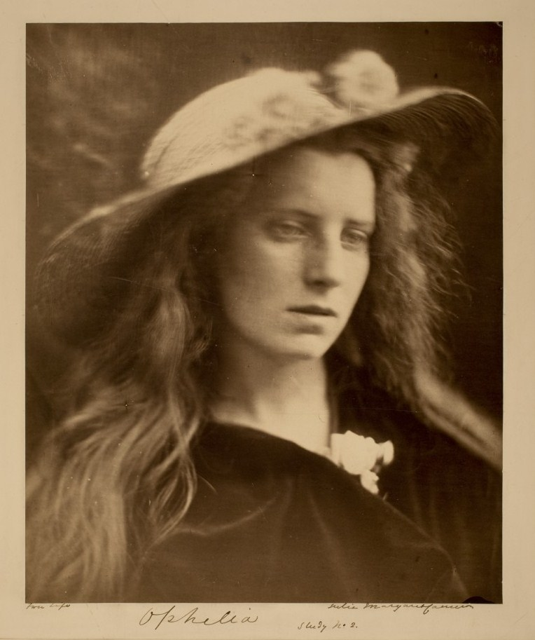 Ophelia Study No. 2, 1867 by Julia Margaret Cameron (1815-1879)