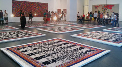 "Nice #Boetti review by Omri Schwartz ""Vintage Rugs & Tapestry Exhibit At The #MOMA""Source: Interior design fashion and home decorating blog"