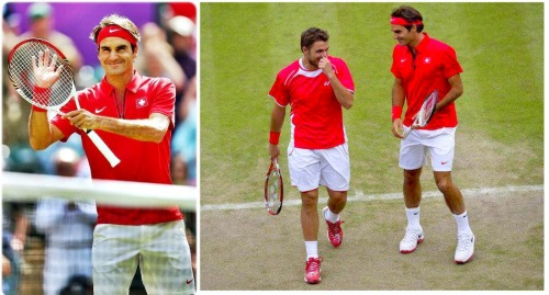 On Monday, Roger proved both successful in the singles and doubles with a 6-2, 6-2 singles victory against France's J. Benneteau and dispatching Japan's team in a 6-7 (5), 6-4, 6-4 win along side S. Wawrinka in the doubles.  Read more here: http://www.sacbee.com/2012/07/30/4675279/federer-and-wawrinka-advance-in.html#storylink=cpy