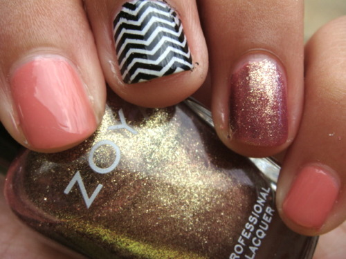 New Post! Chevron and Sparkles!