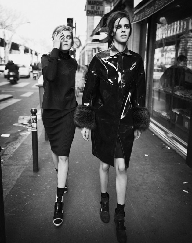 Georgia Hilmer & Thea Skylstad by Ward Ivan Rafik for Vogue Italia Talents Shooting
