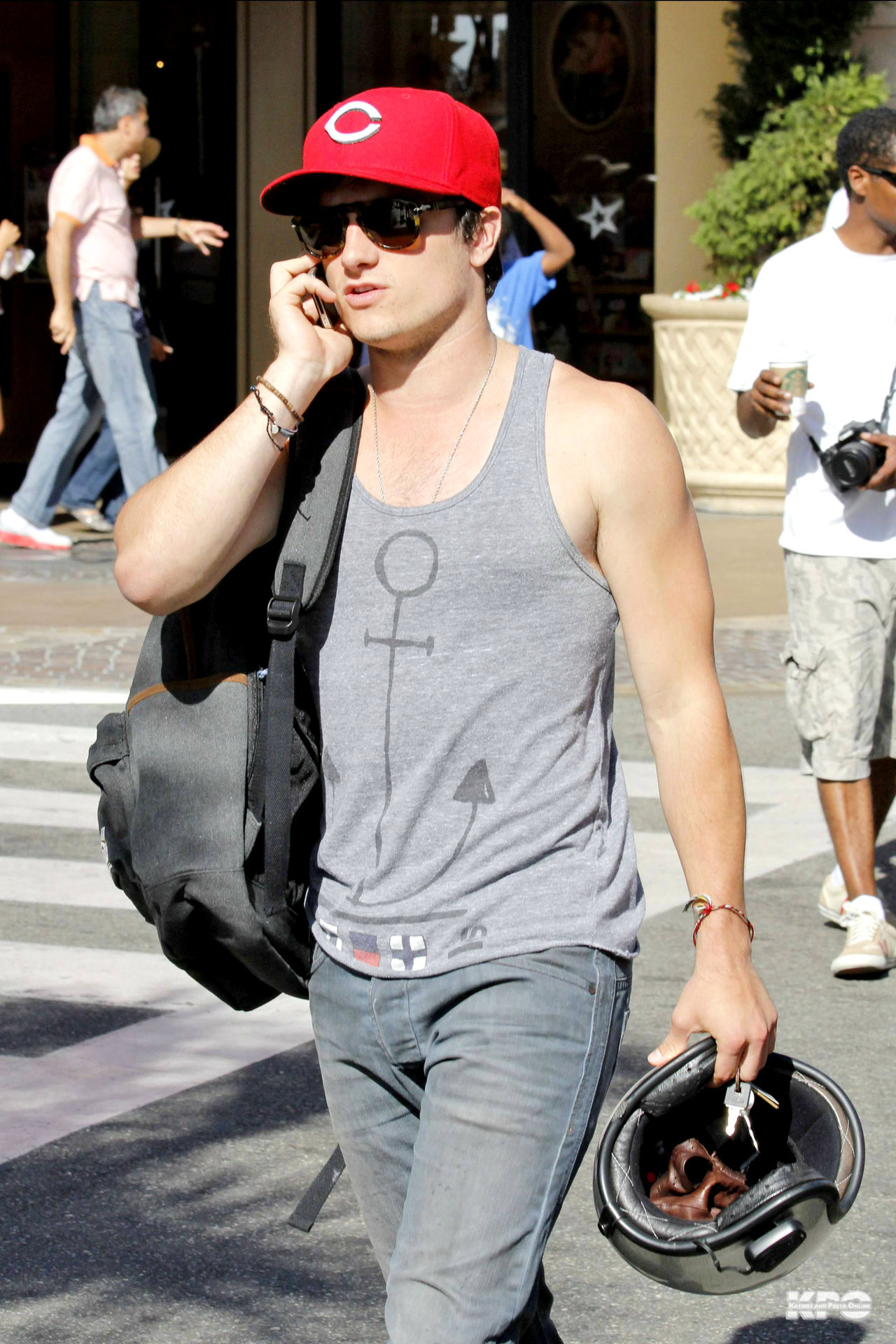 Josh shopping at the Grove 7/29