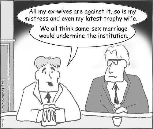 Gay marriage is so immoral…