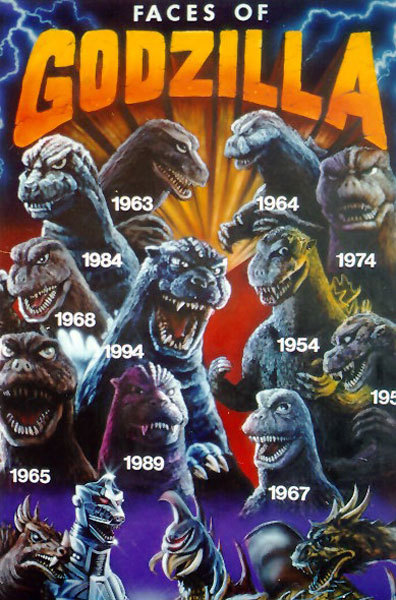 Faces of Godzilla