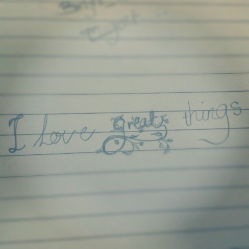 #love #great #things #sketch #freehand #drawing #mine #mysketch (Taken with Instagram)