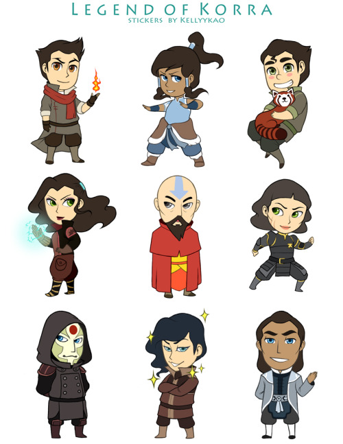 Yayayay! My first set of stickers ever of course is Legend of Korra ;) If you're interested in buying LOK stickers from me go to my Storenvy!